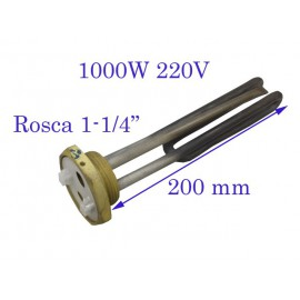 RESISTENCIA SUMERGIBLE 1-1/4¨ 1000W 220V 200MM
